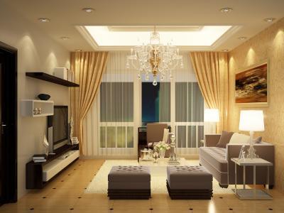 Rèm vải phòng khách MT15