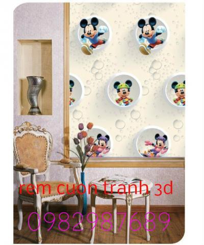 Rèm cuốn tranh 3D T2
