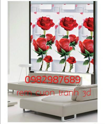 Rèm cuốn tranh 3D T6