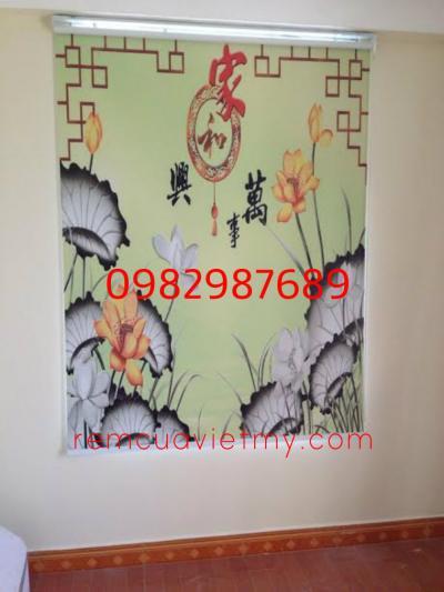 Rèm cuốn tranh V145