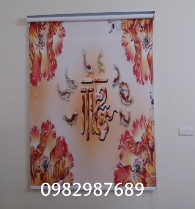 Rèm cuốn tranh V149