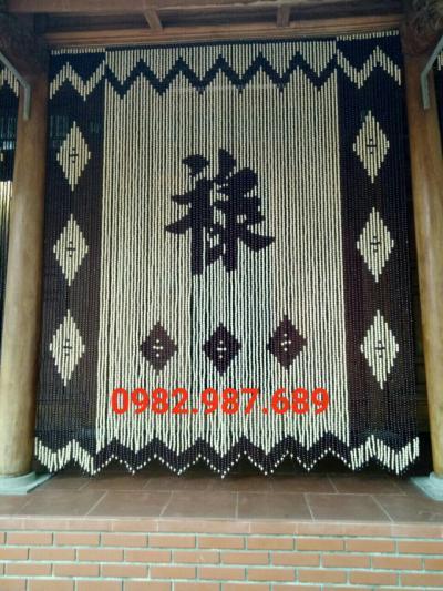 Rèm hạt gỗ chữ Lộc VP02