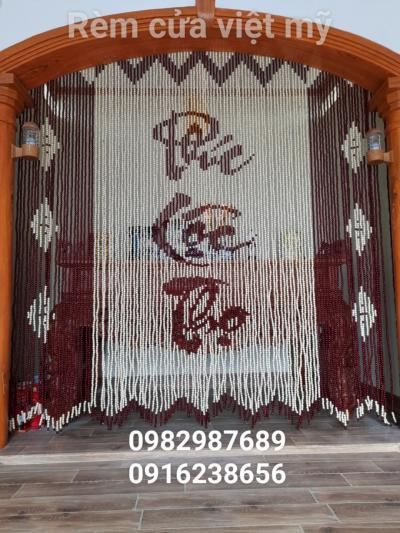 rèm hạt gỗ chữ Phúc Lộc Thọ
