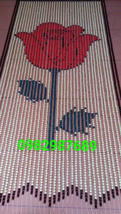 Rèm hạt gỗ Hoa Hồng tại Hà Nội