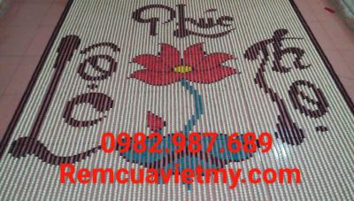 Rèm hạt gỗ hoa sen, phúc lộc thọ H3 tại Hà Nội. Lh: 0982987689