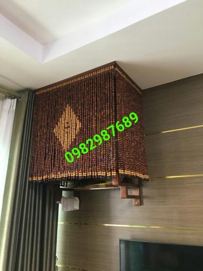 Rèm hạt gỗ hương phòng thờ tai Cầu Giấy