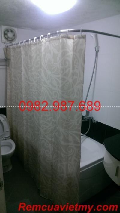 Rèm phòng tắm vân đá 004
