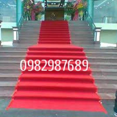 Thảm sự kiện - thảm cầu thang màu đỏ