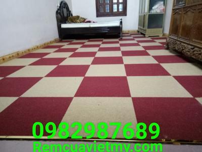 Thảm tấm cao su đỏ, vàng SA 15